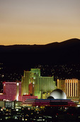 Downtown skyline at twilight, Reno, Nevada