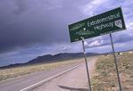 Highway 375, the 'Extraterrestrial Highway', northeast of Las Vegas, Nevada