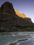Sunrise light reflects off Cape Solitude on the Little Colorado River, Grand Canyon National Park, Arizona