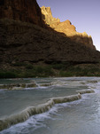 Sunrise light reflects off Cape Solitude on the Little Colorado River, Grand Canyon National Park, Arizona