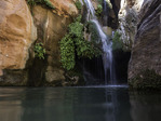 Water trickles into a quiet pool in Elves Chasm, Grand Canyon National Park, Arizona
