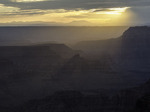 View to the west at sunset from Pt. Sublime, North Rim of Grand Canyon National Park, Arizona