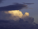 View of monsoon clouds at sunset from Pt. Sublime, North Rim of Grand Canyon National Park, Arizona