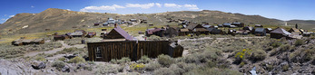 Panorama in Bodie in summer, Bodie State Historic Park, California