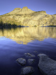 May Lake and Mt. Hoffman at sunrise, Yosemite National Park, California