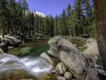 Tuolumne River cascades, Tuolumne Meadows, Yosemite National Park, California