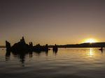 Tufa towers at sunrise on the south shore of Mono Lake, California