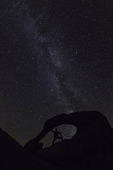 Watching the Milky Way through Mobius Arch, Alabama Hills, Owens Valley, California