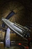 The historic Clark telescope is still used nightly at the Lowell Observatory, Flagstaff, Arizona