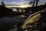 Eagles Falls at sunrise, over Emerald Bay, Lake Tahoe, California