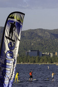 Standup paddle boarding event from Lakeview Commons, Lake Tahoe, California