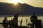 Jazz concert on the beach at Lakeshore Lodge & Spa, Lake Tahoe, California