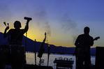 Jazz concert on the beach at Lakeshore Lodge & Spa, Lake Tahoe, California