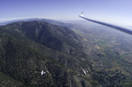 Gliding over the Kingsbury Grade, near Lake Tahoe, Nevada