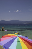 Summer recreation at Sand Harbor State Park, Nevada