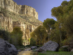 Aravaipa Creek runs perennially through Aravaipa Canyon, Arizona