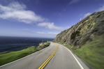Driving north on Highway 1, Big Sur, California