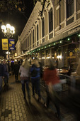 Nightlife in the Gaslamp District of San Diego, California