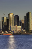 Skyline from Harbor Island, San Diego, California