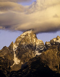 Clouds kiss the Grand Teton at sunrise, Grand Tetons National Park, Wyoming