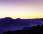 Predawn glow over Vishnu Temple, from Yavapai Point, South Rim, Grand Canyon National Park, Arizona