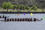 Paddling in the Dragon Regatta on Tempe Town Lake, Tempe, Arizona