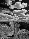 Spider Rock is a 750' high sandstone tower in Canyon de Chelly National Monument, Arizona