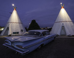 The Wigwam Motel is an iconic lodging on old Route 66 in Holbrook, Arizona