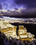 Fresh snow on Yaki Point, South Rim, Grand Canyon National Park, Arizona