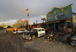 Kitsch rules on old Route 66 in Seligman, Arizona