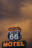 Neon survives on old Route 66 in Seligman, Arizona