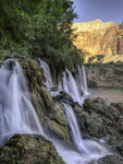 Fifty-Foot Falls in morning light, Havasupai Reservation, Grand Canyon, Arizona