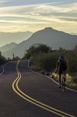 Cycling near sunset at South Mountain Park, Phoenix, AZ