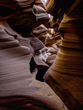 Eroded sandstone deisgns in Lower Antelope Canyon, Page, Arizona