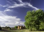The 1680's vintage Spanish church of Quarai, Salinas Pueblo Missions National Monument, New Mexico