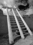 Kiva ladder at Acoma Pueblo, New Mexico