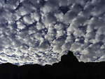 Giddy morning sky over Comanche Peak, from Upper Tanner Camp along the Colorado River, Grand Canyon NP, Arizona