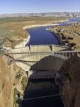 Glen Canyon Dam impounds Lake Powell, Page, Arizona