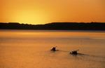 Kayaking at sunset off Isla Espiritu Santo, Baja California Sur, Mexico
