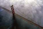Aerial of the Golden Gate Bridge, San Francisco, California