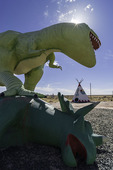Dinosaurs rule at the Painted Desert Indian Center, east of Holbrook, Arizona