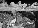 Spider Rock in spring snow, Canyon de Chelly National Monument, Arizona