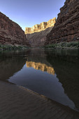 North Point reflected in the Colorado River, Marble Canyon, Arizona
