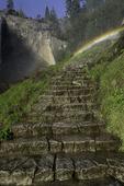 Rainbow over the Mist Trail, near Vernal Falls, Yosemite National Park, California