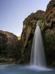 Havasu Falls at sunset, Havasupai Reservation, Grand Canyon, Arizona
