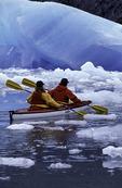 Kayaking before Sawyer Glacier, Tracy Arm, Alaska