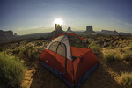 Camping at the new Mittens Campground, Monument Valley, Arizona