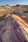 Multi-hued layered sandstones exposed in Valley of Fire State Park, Nevada