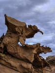 The 'Gargoyle', a natural sculpture in sandstone, Devil's Fire, Nevada