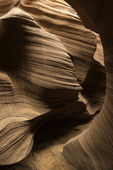 Path through sandstone in Rattlesnake Canyon, near Page, Arizona